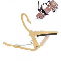 Quick Change Guitar Capo for Acoustic Electric Guitar Golden