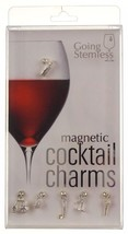 Going Stemless Golf Wine Charms Cocktail Magnetic Set 6 Drink Cart Ball ... - $39.99