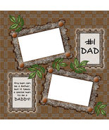 No. 1 Dad for Father's Day ~ Digital Scrapbooking Quick Page - $3.00