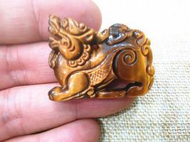 good luck tiger eye stone  chinese pi yao Amulet charm pendant - $9.89