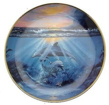 Franklin Mint Dance of the Dolphin plate CP2464 - $36.42
