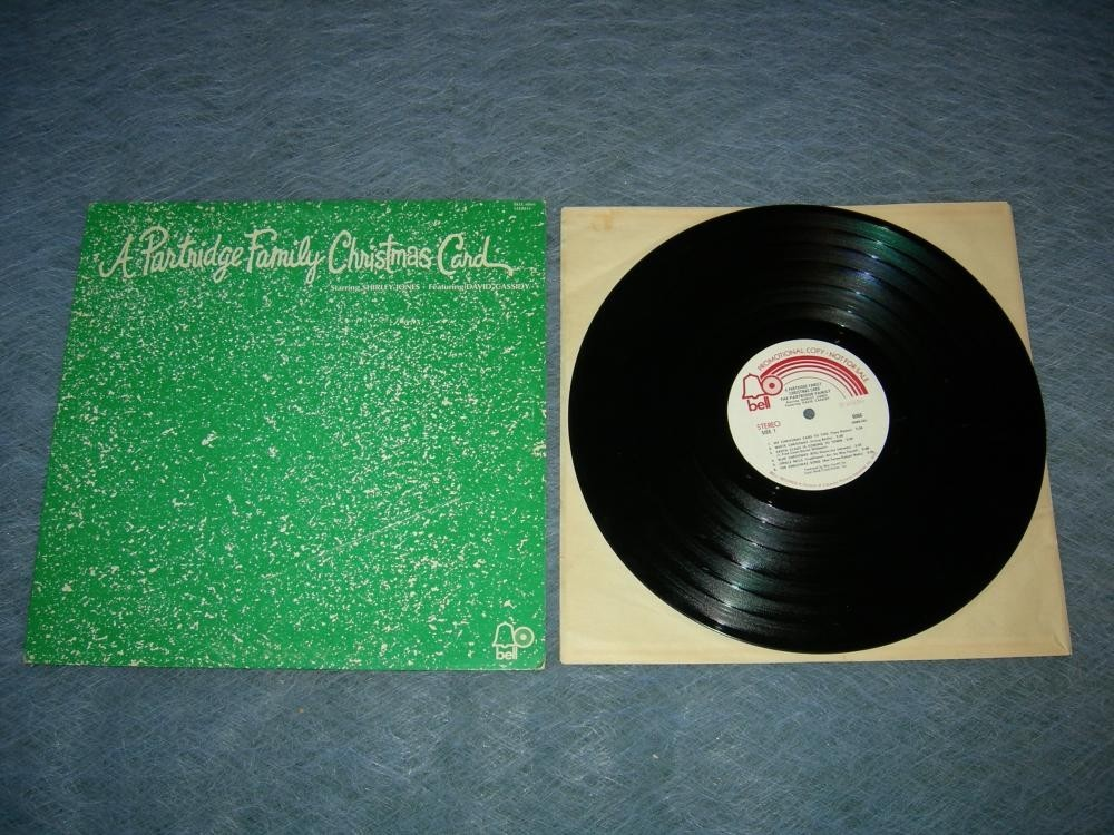 A Partridge Family Christmas Card LP -White Label Promo - 1971