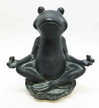 6 Inch Meditation Frog Relaxed Buddhist Resin Statue Figurine - $15.15