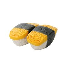 JAPANESE TAMAGO EGG CERAMIC MAGNETIC SALT PEPPER SHAKERS - $13.30