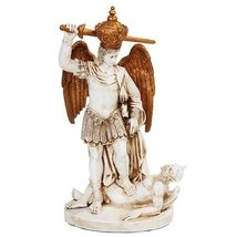 6.5 Inch St. Michael with Crown Slaying Demon Statue Figurine - $27.70