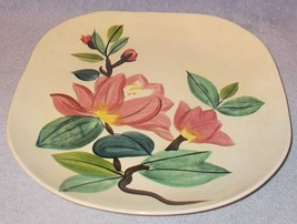Vintage Red Wing Blossom Time Dinnerware Plate 10.5 inch Square - $7.00
