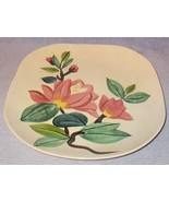 Vintage Red Wing Blossom Time Dinnerware Plate 10.5 inch Square - $6.95