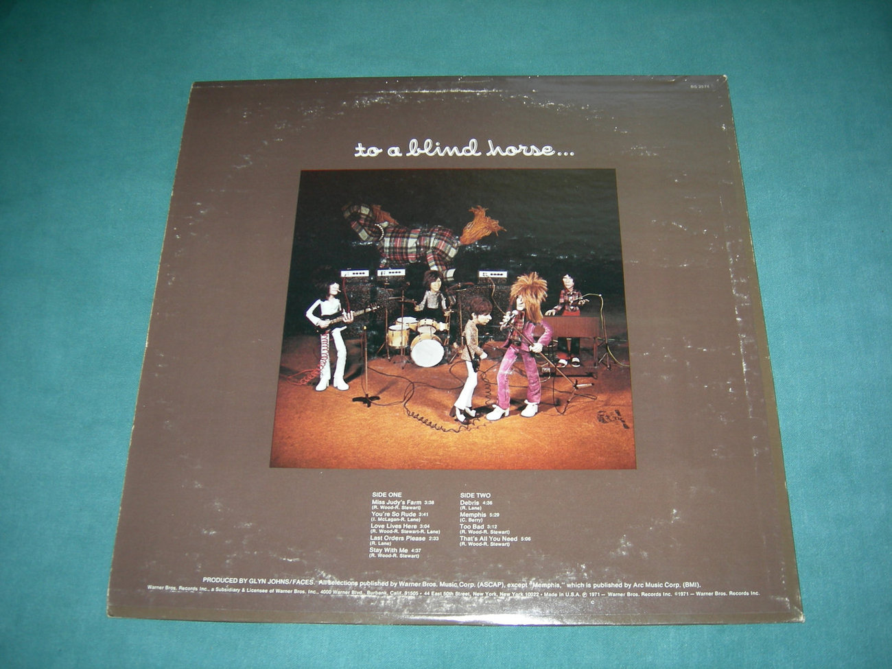 Faces With Rod Stewart - A Nod Is As Good As A Wink To A Blind Horse - LP - 1971
