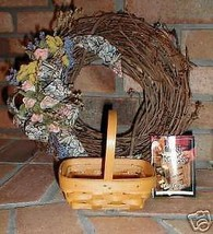 Longaberger Parsley Booking Basket Hand Made W Plastic Protector New USA... - $23.71