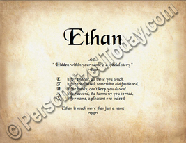 Ethan Hidden Within Your Name Is A Special Story Letter Poem 8.5 x 11 Print - $8.95