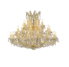 "AM4800: Traditional Round Arms Maria Theresa Chandelier (20""-56"" W) $1,825+  - $1,825.00"