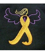 Leukemia Lupus Orange Ribbon Angel Black Hoodie Sweatshirt 4X Unisex New - $33.92