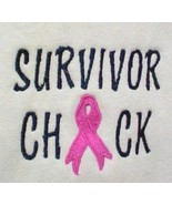 Survivor Chick Breast Cancer Pink Ribbon White Hoodie Sweatshirt 2X Unis... - $36.45