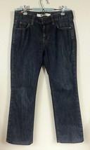 GAP Women s Jeans Stretch Dark Blue Denim Classic Rise Boot Cut Pants Size 6A - $5.27