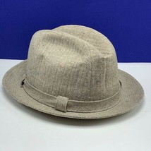 Stetson Fedora Hat vintage cap beige tan gold 7 and 3/4 size fitted houn... - $123.75