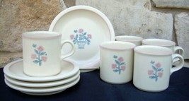 Pfaltzgraff  USA Perennials Serendipity 9 Pc Lot Coffee Mugs Cups Saucer... - $24.99