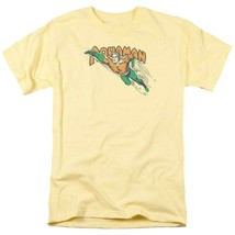 Aquaman T-shirt SuperFriends retro 80s cartoon DC yellow graphic tee DCO862 image 2