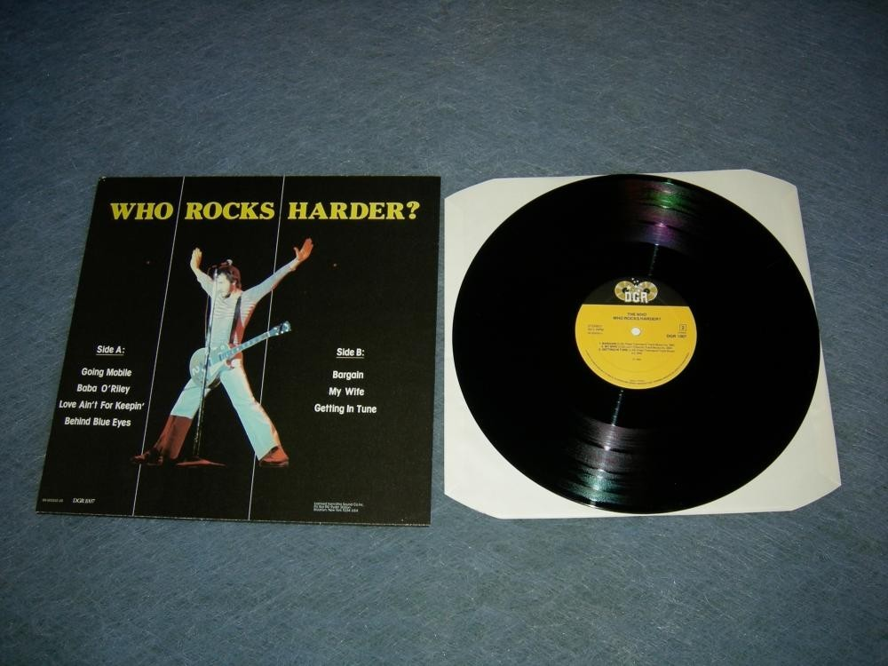 Who Rocks Harder LP The Who 1985