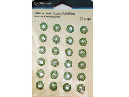 Recollections Green Glitter Accent Stickers #258645