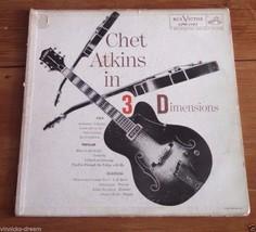 1956 Chet Atkins In 3 Dimensions Vinyl LP VG+ LPM1197 Electric Jazz Guitar - $4.85