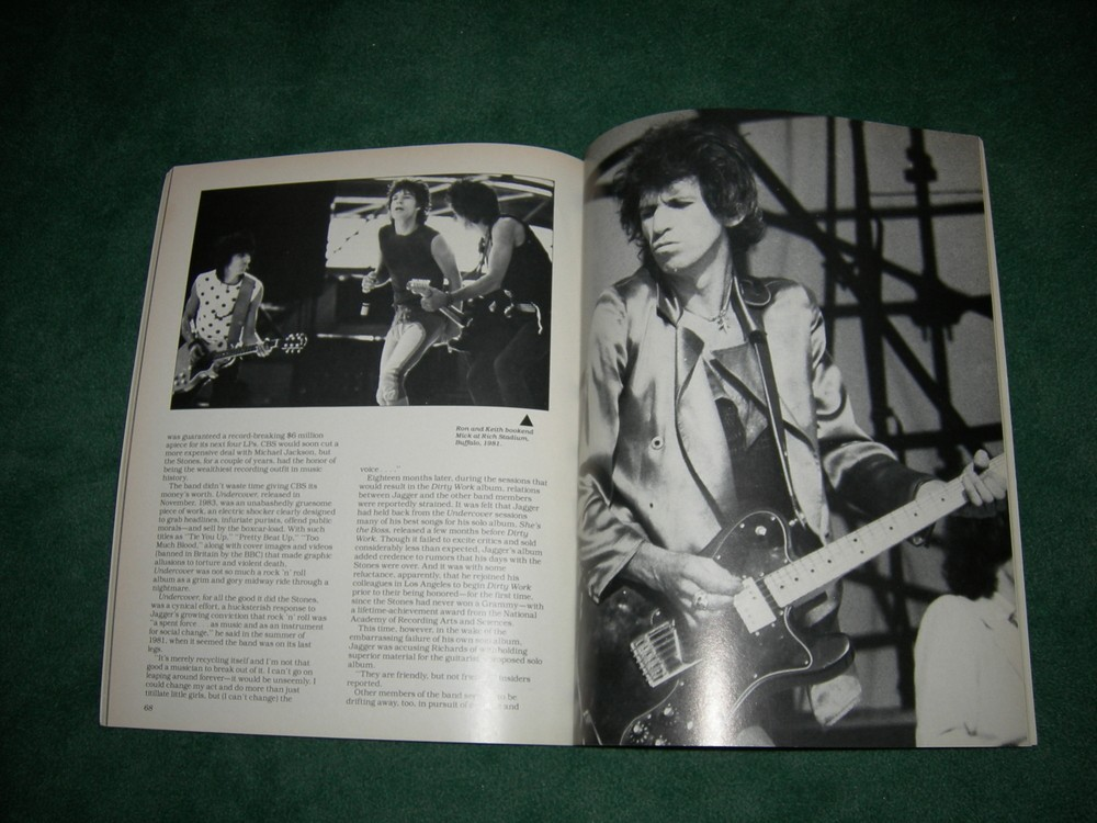 The Rolling Stones 25th Anniversary Tour Book - 1989
