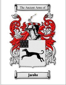JACOBS SURNAME COAT OF ARMS PRINT - GENEAL Bonanza