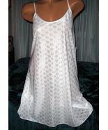 Nightgown Slip Chemise 3X Plus Size White Short... - $16.99