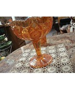 Imperial Fashion Marigold Compote Pedestal Candy/Fruit Bowl  - $24.74