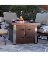 Tabletop Patio Firepit ~ Outside Deck Propane Heater ~ Antique Bronze Fi... - $367.54