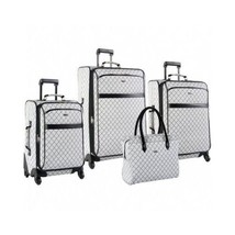 Travel Luggage Set ~ Signature Spinner 4 Pc Weekend Vacation Suitcase Se... - $289.29