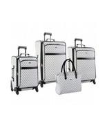 Travel Luggage Set ~ Signature Spinner 4 Pc Weekend Vacation Suitcase Se... - $289.29