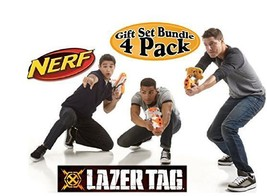 Lazer Tag Game Blasters Multiplayer & Solo Fun - Bundle 4 Pk Use W/ IPho... - $117.02