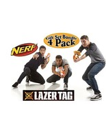 Lazer Tag Game Blasters Multiplayer & Solo Fun - Bundle 4 Pk Use W/ IPho... - $117.02