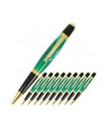 Stylish Pen Kit 24K Gold Finish Durable Set, Ball Point Twist Pens (10 P... - $81.26