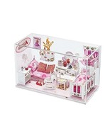 Kids Princess Dollhouse Playset in a Glass Cube - Girls White Dream House - $89.01
