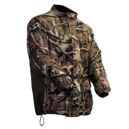Men's Sports Jacket Heated Hooded Parka  ~ Camouflage ~ XL Adjustable Heat Coat - $343.41