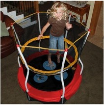 "Trampoline Outdoors Toys Kids Toddlers 48"" Bouncer Activity ~ Wide W/ En... - $152.77"