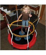 """Trampoline Outdoors Toys Kids Toddlers 48"""" Bouncer Activity ~ Wide W/ En... - $152.77"""