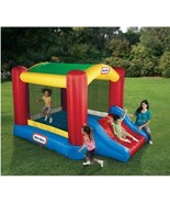 Kids Inflatable Bouncer Little Tikes Jump n Slide Canopy Shade Heavy Dut... - $285.42