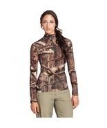 Women's Pullover Sweater Long Sleeve Half Zip Merino Wool Camouflage~Shi... - $117.98