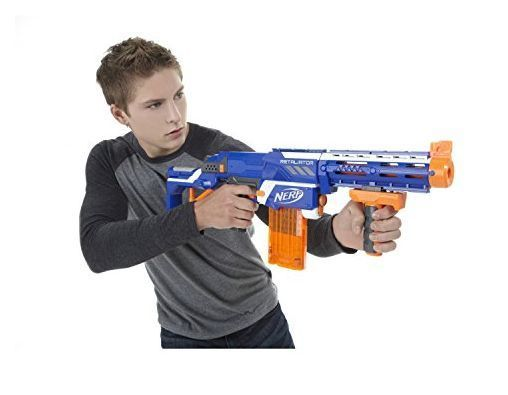 Primary image for Retaliator Blaster Gun Striker W/ 30 Dart Refills Fires Up to 90' Bundle of 2