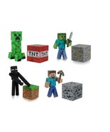Creeper Zombie Enderman & Steve Minecraft Set of 4 Figures with Accessories - $57.90