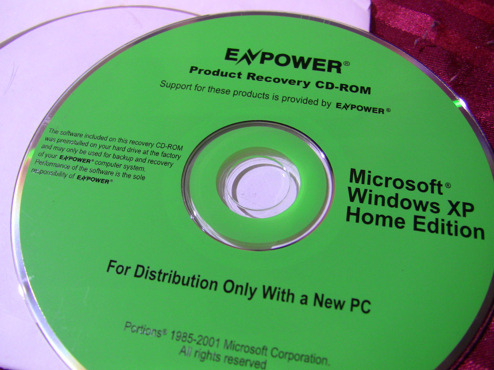 dell réinstallation cd windows vista