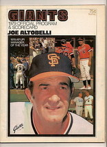 1979 Giants Padres Official Program - $18.70