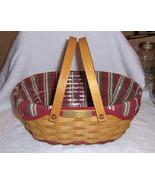Longaberger 2004 Get Together Basket Combo Red Trim Christmas Collection - $39.20