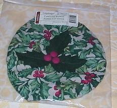Longaberger Caroling Basket Fabric Lid COVER ~ Am Holly - $12.68