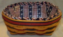 Longaberger 1999 Blue Ribbon Bread Basket Combo - $41.16