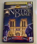 Notre Dame Secrets of Paris Windows 7, Vista, XP, SP 1 &2 New Game w/ Bonus - $9.31