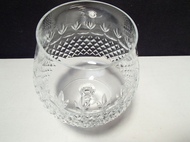 BEAUTIFUL LARGE CUT CRYSTAL BRANDY SNIFTER~~~unknown maker