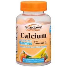 Sundown Naturals Calcium 400 mg Vitamin D3 gummies 400 iu 50 gummies - $9.85